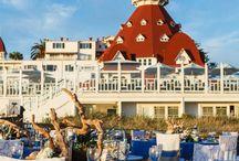 California Coastal / Hotel Del Coronado is the beautiful setting for a sunset beach reception / by Embellishmint Floral + Event Design Studio