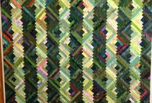 Log Cabins / Quilts in Log Cabin pattern / by Evalyn Allen