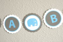 Boy Elephant Baby Shower / Decorations for Boy Baby Elephant Showers / by Pass The Scissors