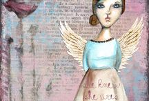 Mixed media art and doodle patterns / by Jene Foral Ensign