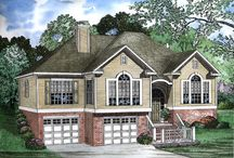 Split Level House Plans / The split-level house plan gives a multi-dimensional, sectioned feel with unique roof-lines. With the split level or split foyer style of design the front door leads to an entry landing that lies midway between the main and lower levels. Stairs lead either up to the main level or down to the lower level. Many split-level plans are similar in style to ranch house plans and have very little decorative elements. / by COOLhouseplans.com