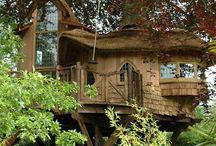 Tree Houses / Once a simple backyard, childhood project........ now a grown up elaborate retreat. / by Antique Iron Beds by Cathouse Beds