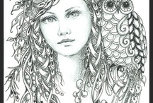 Art: Zentangle Person / by Holly Roth