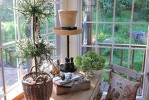 Sunroom office / by Carrie Gallacher