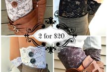 Fall accessories- scarves, gloves, boot cuffs, & belts / by JoAnna Moyers