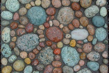 """Design~ Stones / My Mother always said """" If you find a stone with a white circle around it, stand backwards to the lake and toss it in.. and make a wish""""   / by Stacey Dean"""
