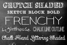 fonts / by Real Mom Kitchen | Laura Powell