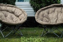 Sphere Chair Covers / Help to protect your outdoor furniture from the elements with chair covers hand made by Decorative Decore Designs / by Decorative Decor