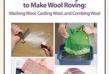 Working with raw fiber / Washing, combing, spinning raw fiber / by G. Leigh
