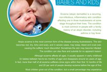 """Eczema Booklet / The Booklet """"ECZEMA: Babies and Kids"""" has been produced with the support of the Eczema Association of Australasia. Topics: - Wet Wrap Technique - Itchy Foods  - Psychological Effects on Eczema in Children - Infections - Topical Steroid and eczema - Useful Links and Contacts To get your free copy of the Eczema Booklet, please email us your address to info@theallergyshop.com.au / by Christian Antonini"""