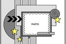 layouts for scrapbooks / by Joline Sanchez