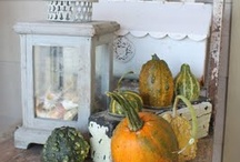 shabby chic fall decorating / by Karin Caspar