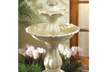 Outdoor Fountains / Outdoor Fountains for everyday discount prices come in stone, solar, wall or large outdoor water features. Garden fountains are an ideal addition to your home garden and landscaping. / by URGifts4allSeasons