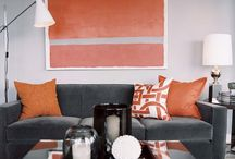 Gray and orange / by Amy Weimer