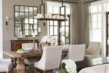 Dining in Style  / Dining rooms can take any shape -- from spacious rooms to nooks off the kitchen.Inspired by size or style of the space, makes an everyday meal special  / by Shelley Rubalcava