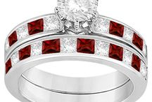 Garnet Engagement Rings / Garnet's deep reddish color represent the love and romance which will not get dull or easily forgotten . It is fashionable as well as soft. It will increase the joy of engagement itself. Through this you can tell your partner your feelings which will  always adored and valued. / by Allurez