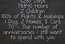 Anniversary Ideas / by Betsy Gurd-Stoneburner