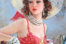 Beauty in Art / Beautiful, soft, and sensuous women on canvas / by Glenn Ford