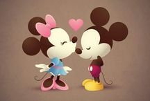 Mickey en Minnie. / by Helma van Hees