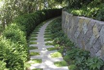 paths, walkways, walls and water / by Carolyn Villanova