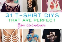 T-Shirt Ideas / Ideas to help with the design and construction of your t-shirt/ tops / by Amy Basry