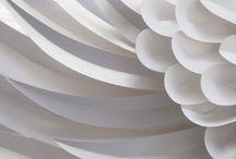 white paper ஃ / #paper, #art, #sculpture, #origami, #kirigami, #cut, #fold / by ephemere-etc