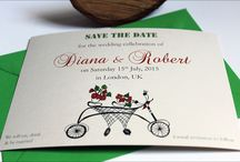 Save the Dates for weddings, anniversaries or parties / Hand illustrated, original designs for save the date cards, produced in UK.  / by Lionheart Stationers