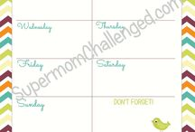 Planner Junkies Printables / A place for Planner Junkies to share printables, free or paid. / by Lorri K