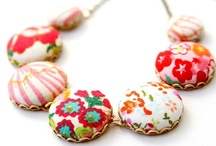 Fabric covered buttons / by Lisah Ahoi