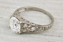 vintage wedding engagement ring / by Lili TheBanyanTree