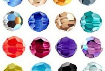 Swarovski Faceted Balls from Berger Beads / Swarovski Faceted Balls from Berger Beads www.bergerbeads.net / by Victoria Rubin