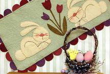 stitchery/penny rugs / by Jody Taylor