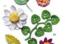 crochet flowers, jewelery / by Ann Hutchings