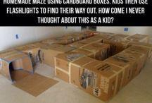 Cardboard box ideas / by Tricia Duke Coomer