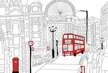 London / by April Heather Davulcu  /  April Heather Art