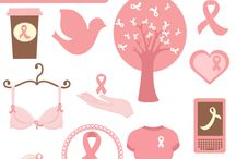 Breast Cancer awarness graphics and party inspirations / by Mygrafico Digitals