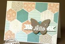 Cards with Hexagons / by Sharron Moerke