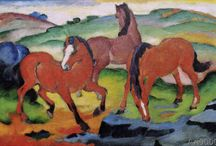 """""""Franz Marc"""" / Feel free to pin any pictures from the artist Franz Marc. If you want to be invited just follow the board or comment ADD ME on one of the ADD ME Pins. / by Art 9000"""