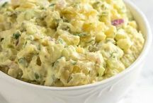 Potatoe salads / by Joan Mclain