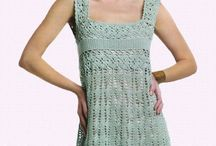 Crochet clothing / Adult shrugs, shawls, skirts, tops and dresses / by Crystal Ridenour