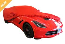 C7 Corvette Car Covers / A Geniune GM Accessory - protection for your C7 Corvette Stingray with GM sytyle. GM's own stretch satin indoor car cover features the C7 Corvette emblem embossed throughout the car cover material. Fits both coupe or convertible. / by Zip Corvette Parts