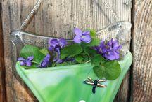 Fused Glass pocket vase / by Marilyn Resvick