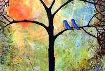Trees and birds Bäume und Vögel arbres et oiseaux. / by marri rie