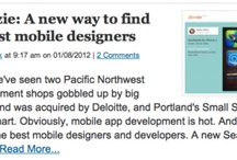 Scoutzie in The News / Press mentioning Scoutzie.com, a curated community for for the best mobile designers in the world.  / by Danielle Geva