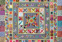 Medallion Quilts / Start with a central motif and work outwards with borders. Simple! / by Stephanie Boon