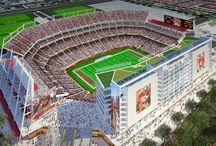 "See Levi's Stadium / The San Francisco 49ers new 68,500 seat ""Levi's Stadium"" in Santa Clara, CA is scheduled to open in August, 2014. http://levisstadium.com/ / by Visit Santa Clara, CA"