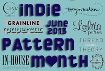 Indie Pattern Month - June 2013 / by the curious kiwi