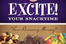 EXCITE! Your Snacktime Brochure / No upfront cost fundraising. Only pay for what you sell & all items bring you 50% profit / by Old Fashion Candy