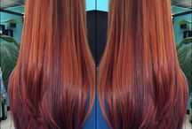 """ALL those reds! / """"Once in his life, every man is entitled to fall madly in love with a gorgeous red head.""""  ― Lucille Ball / by Hairdo Salon"""