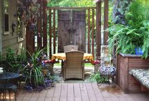 Front Patio ideas (& include a lot of privacy yet curb appeal) / by Tolove Myhome